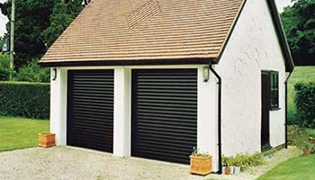 Double Electric Garage Doors