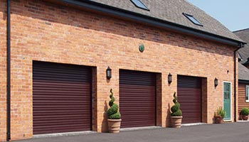 Triple Electric Garage Roller Doors