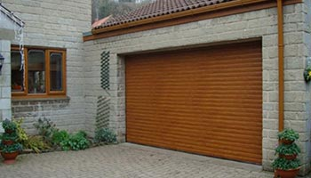 Wood Effect Electric Garage Roller Doors
