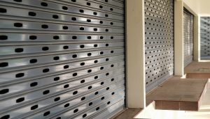 Shop Front Shutters from Up and Over Doors Kent suppliers.