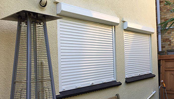 White Window Shutters Installation