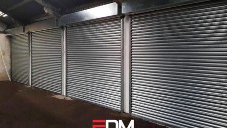 New steel roller shutters
