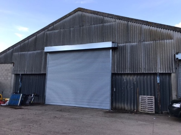 Metal warehouse roller shutters supply and fit by EDM