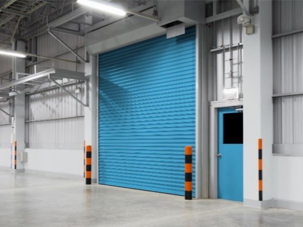 Sky Blue Industrial Roller Shutters