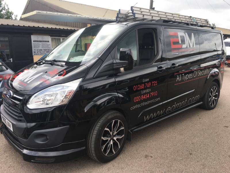 Steel Security Doors Cambridge Vehicle Fleet at Essex Door Maintenance.