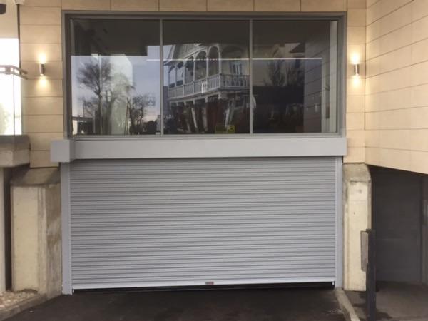 Car park garage roller shutters