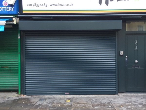 Brand new roller shutters designed and installed for happy customer