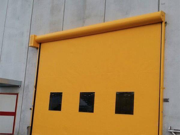 Yellow High Speed Roller Shutters Installation and supply