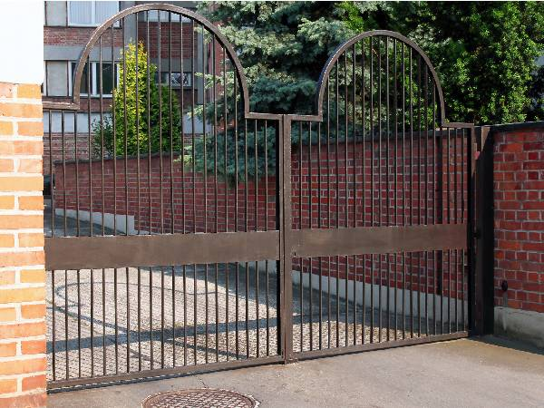 Big Metal Security Gate for block of flats