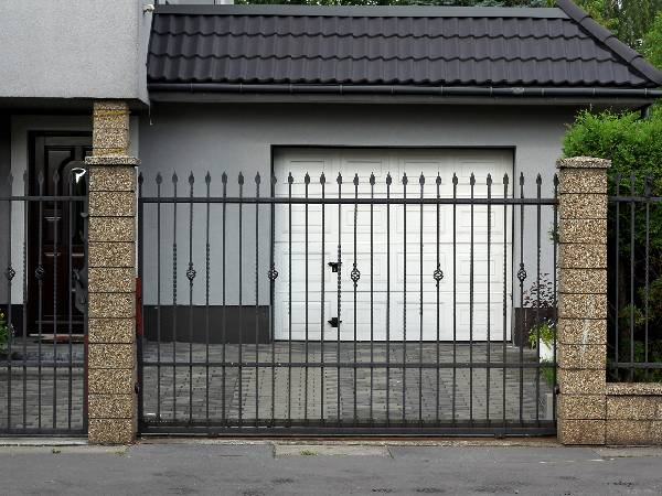 Simple Metal Bar Security Gates